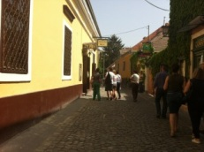 Szentendrei főutca / The main street of Szentendre