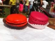 még mindig macaronok (narancso-csokis és málnás-levendulás) / My macarons: oranga-chocolate and raspberry-lavender flavoured ones
