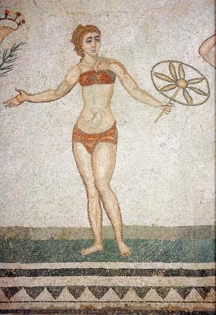 Már az ókori rómaiak is hordtak bikinit :) / Ancient Romans were wearing bikinies too :)