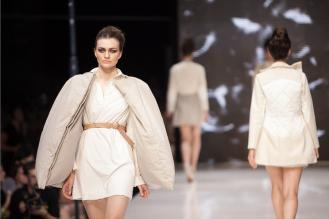 Csík Orsolya nyertes kollekciója newcomer kategóriában. / The winner: Orsolya Csik's collection in the newcomer category.